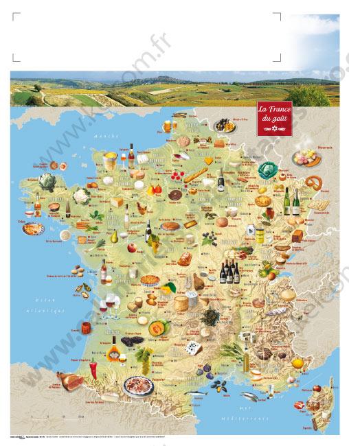 carte des specialites de france - Image