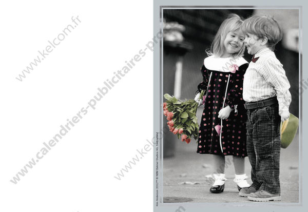 Calendriers publicitaires de poches enfants - Photo noir et blanc enfant ...