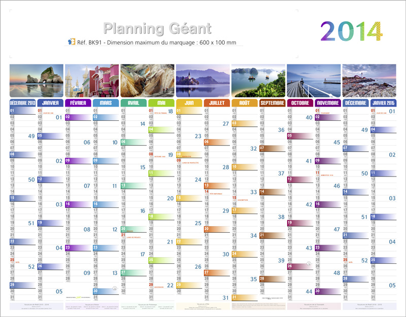 Calendrier planning for Calendrier mural gratuit