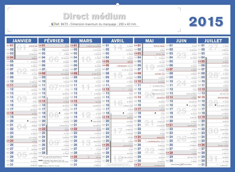 Calendrier bancaire publicitaire entreprise - Calendrier des salons 2015 ...
