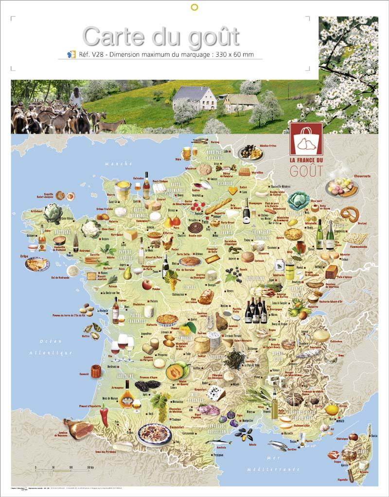 carte de france culinaire