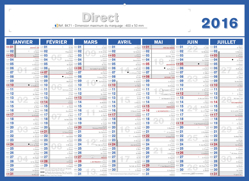 Calendrier 2020 Semaine Numerotees.Calendrier Bancaire Publicitaire Direct