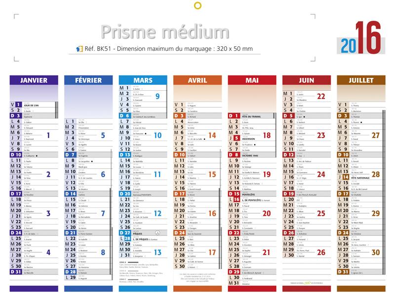 Calendrier 2016 : Vacances, jours fériés, numéros de semaine ...