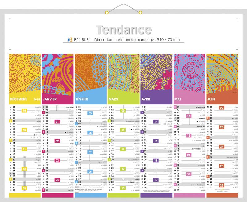 Calendrier de banque publicitaire personnaliser - Calendrier design ...