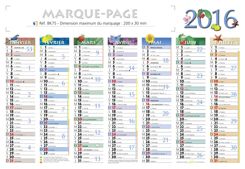 Calendrier Semaines Paires.Calendrier Petit Format