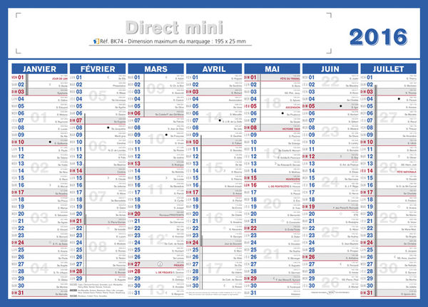 Petit calendrier, Mini Direct