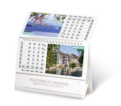 chevalet calendrier publicitaire peinture
