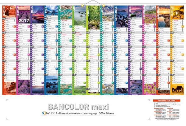Calendrier Grand Format 2017 Maxi Banque Calendriers