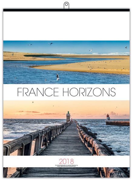 Calendrier Illustré : France horizons small - 330 x 400 cm