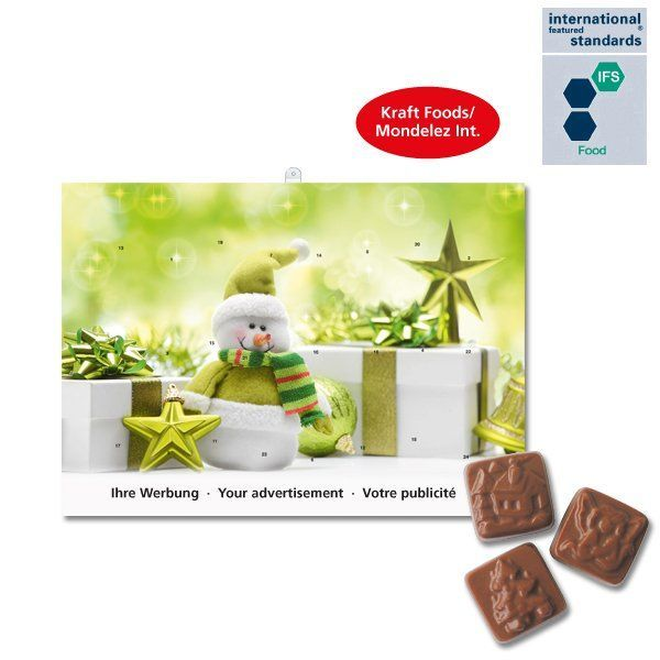 Calendriers avent publicitaires chocolat