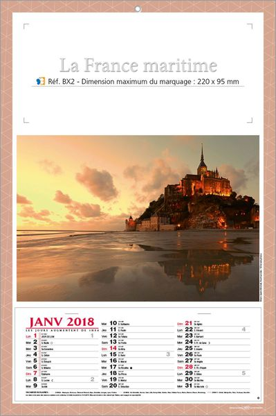 Calendriers publicitaires marine, MariFrance