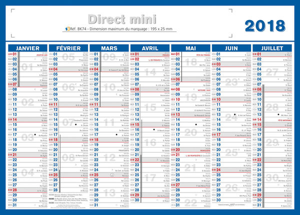 petit calendrier : Petit calendrier, Mini Direct