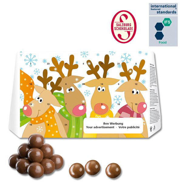 Calendrier avent personnalise chocolat