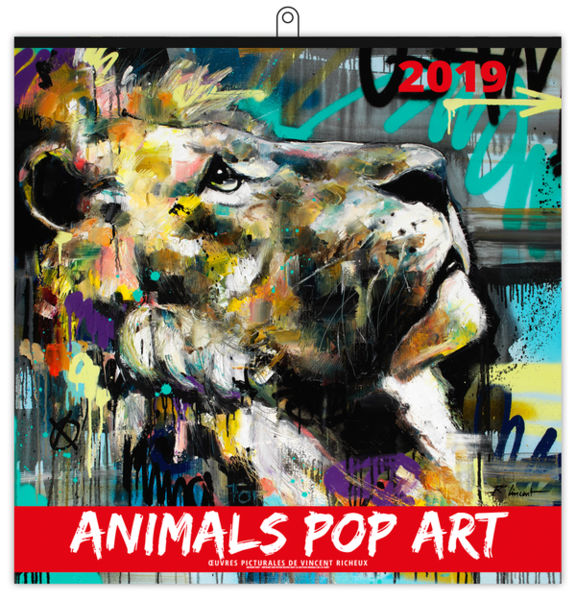 Calendrier Publicitaire Illustré : Animals Pop Art Xxl 480 x 480