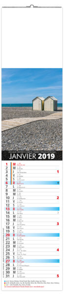 Calendrier Publicitaire Illustré : La France Panoramique 106 x 490 1