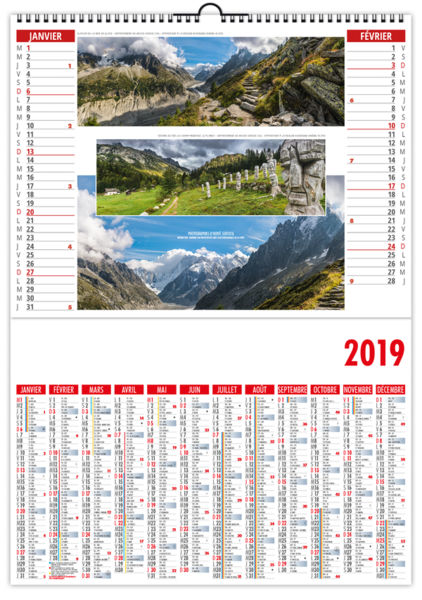 Calendrier Publicitaire Illustré : La France Panoramique 330 x 470