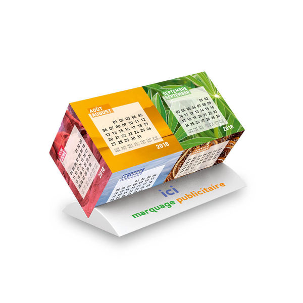 calendriers cubes publicitaires, Cube Duo