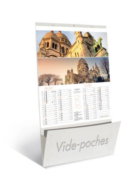 Calendriers publicitaire vide poche, Sites de France