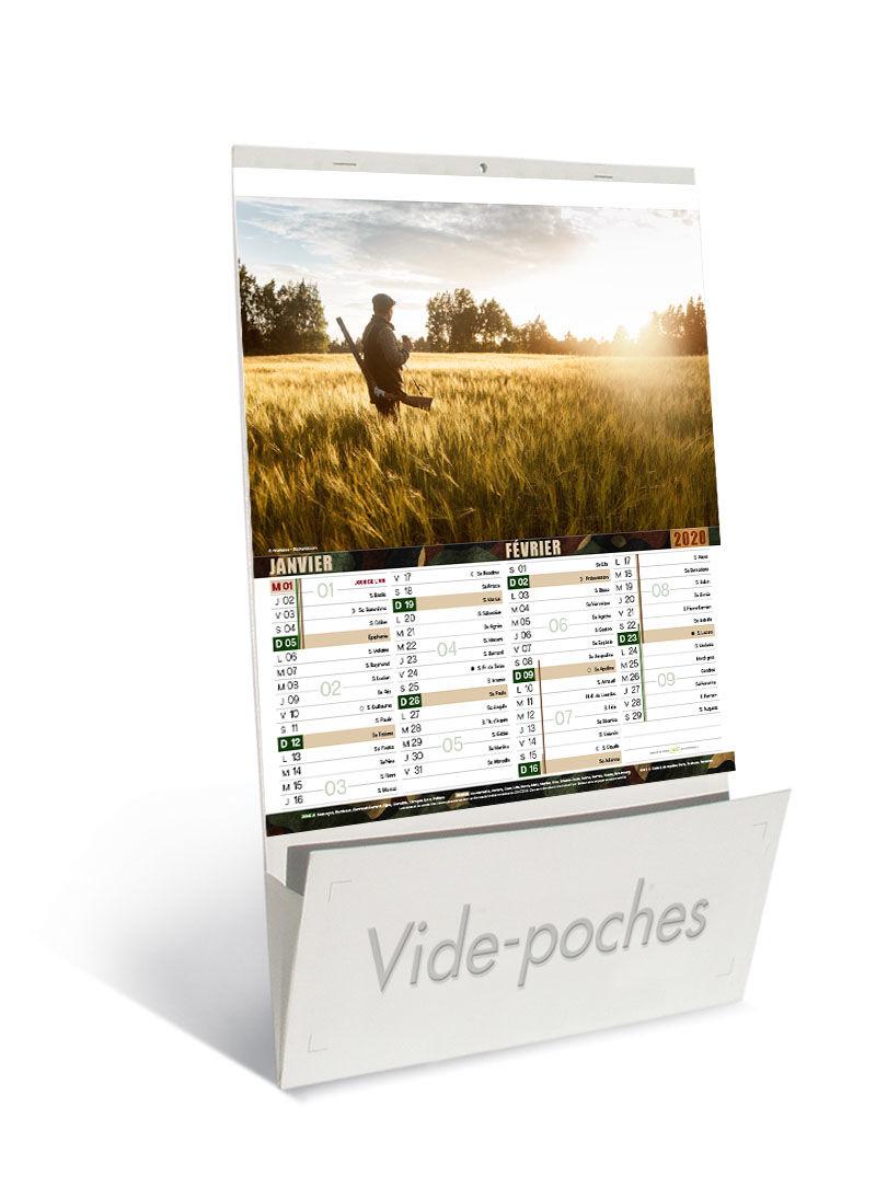 Calendrier De Peche 2020.Calendrier Publicitaire Vide Poches Chasse Et Peche