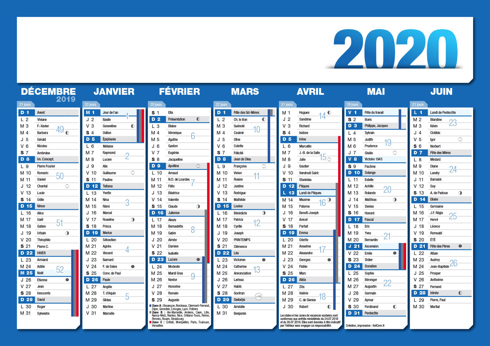Calendrier Perso.Calendriers Publicitaire Personnalise