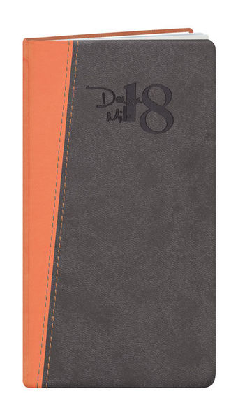 Agenda Personnalisable Semainier | Tahiti | 93x168 mm : Agenda Personnalisable Semainier - Tahiti  93x168 mm Gris Orange