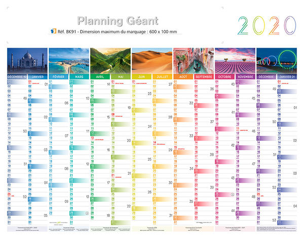 Calendrier Geant.Calendrier Effacable Planning Geant 1295 X 580 Cm