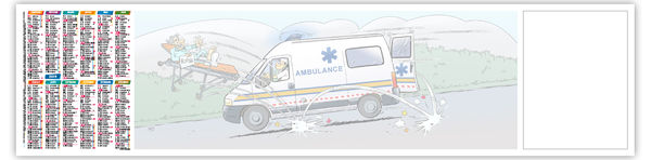 Sous Main Publicitaire  : Ambulancier - 500 x 350 cm