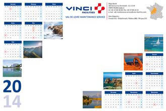 Calendrier Perso.Sous Mains Publicitaires 100 Perso 2019 Kelcom
