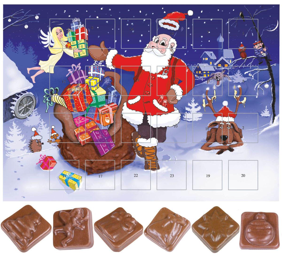 Calendrier de l'avent au chocolat classique