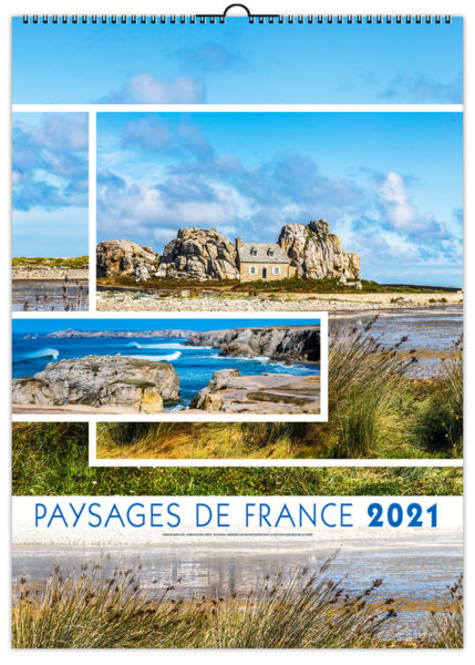 Calendrier Illustré : Paysages de france small - 210 x 290 cm
