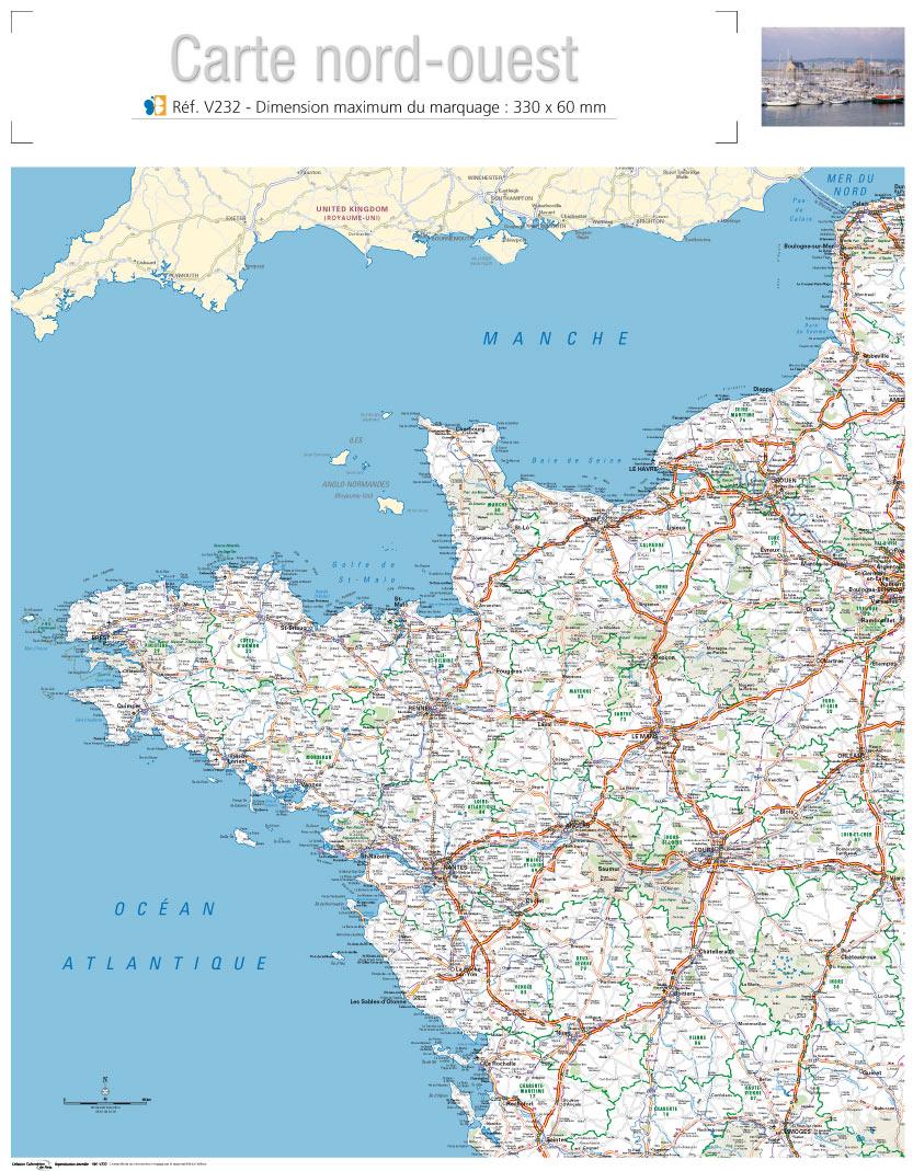 carte nord ouest france Vous avez cherché carte de l ouest de la france   Arts et Voyages