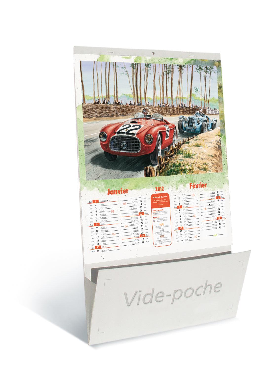 calendriers publicitaires voitures anciennes vide poche 2012. Black Bedroom Furniture Sets. Home Design Ideas