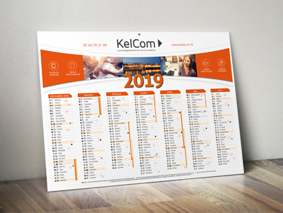 Calendrier Perso.Calendriers Publicitaires 100 Personnalises Kelcom